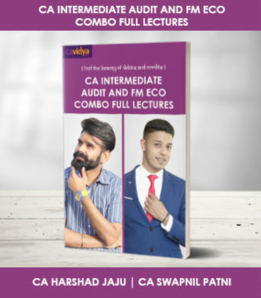 Picture of CA INTERMEDIATE AUDIT AND FM ECO COMBO FULL LECTURES